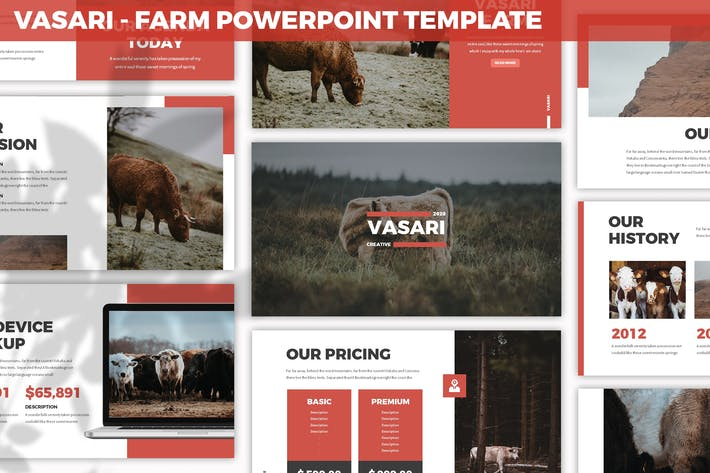 Thumbnail for Vasari - Farm Powerpoint Template