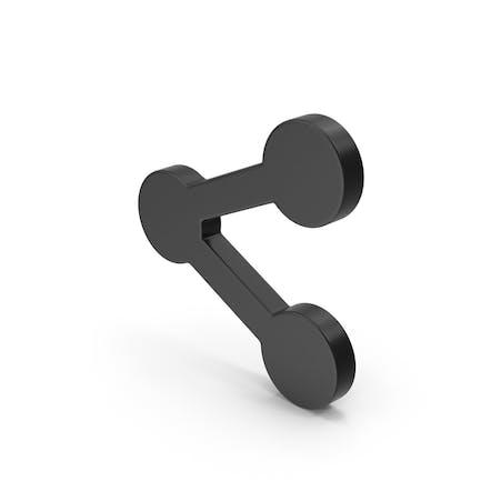 Symbol Share Button Black