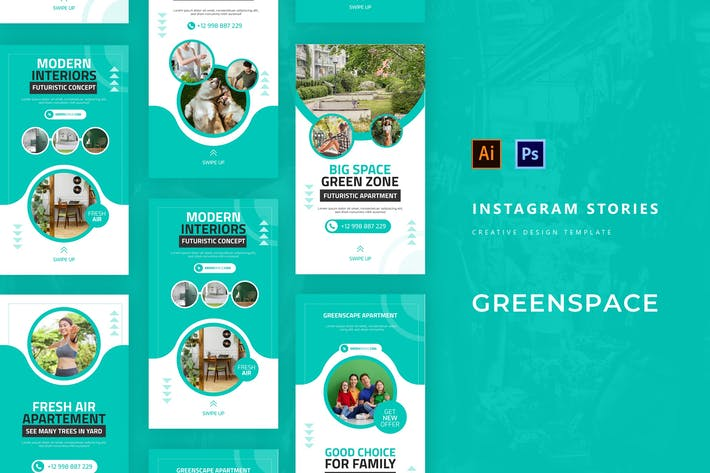 Thumbnail for Greenscape Apartment Instagram Story