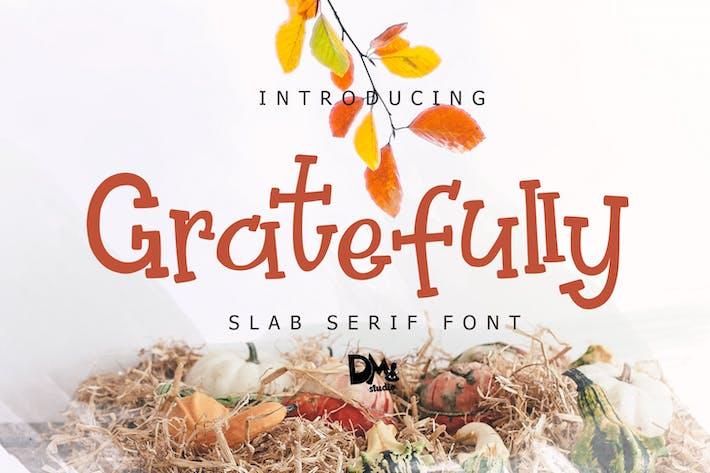 Thumbnail for Agraído - Fuente Slab Con serifa