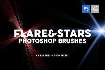 45 Lens Flare & Stars Photoshop Stamp Brushes