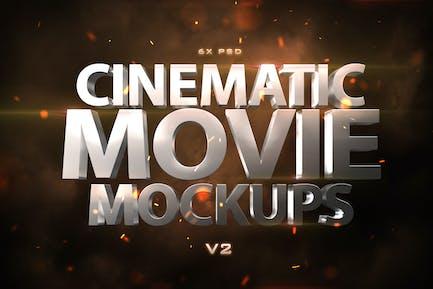 Cinematic 3D Movie Mockups V2
