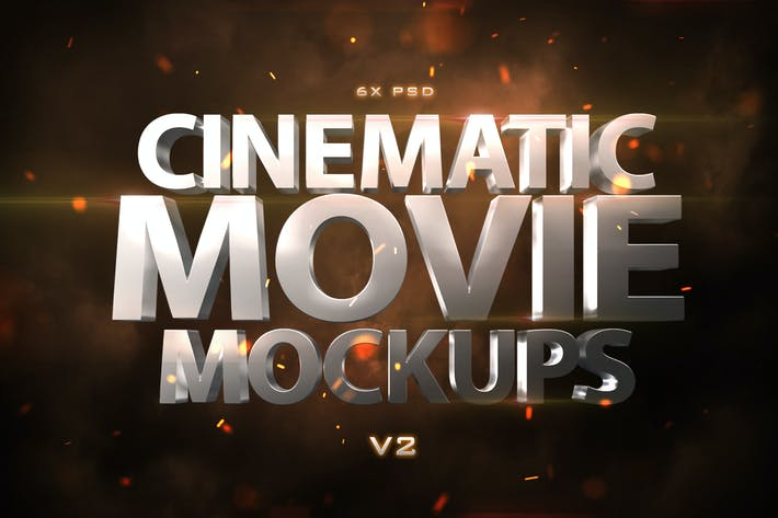Thumbnail for Cinematic 3D Movie Mockups V2