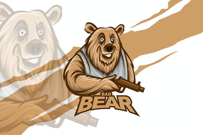 Thumbnail for Bad Bear - Logo Vector
