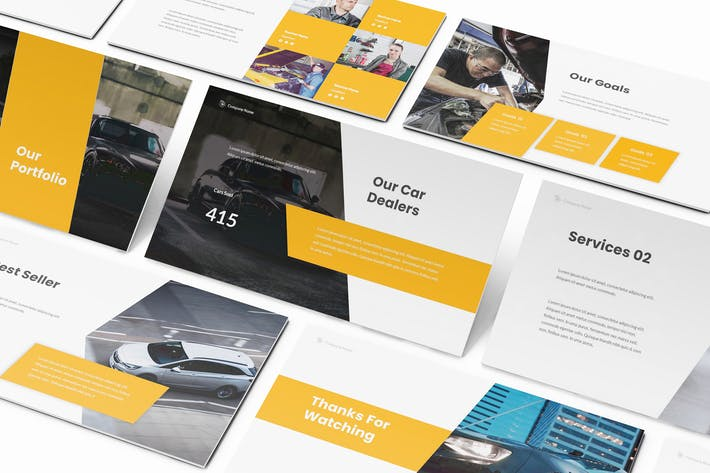 Thumbnail for Car Dealership Keynote Template