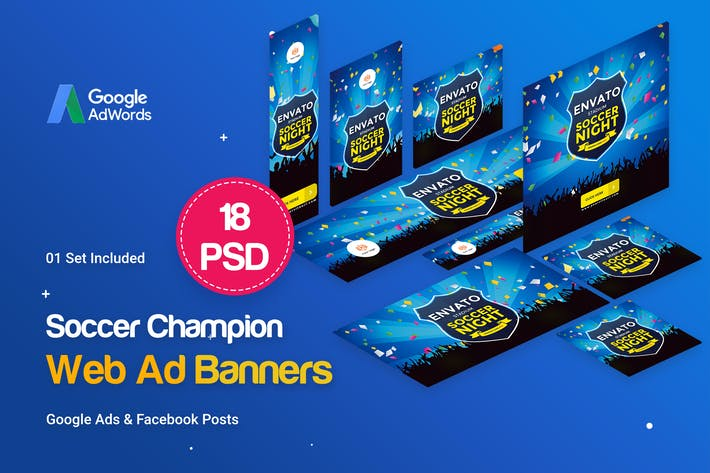 Thumbnail for Soccer Champion Banners Ad