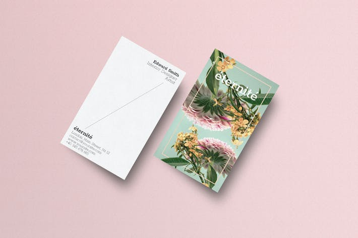 Thumbnail for Minimal Floral Business Card