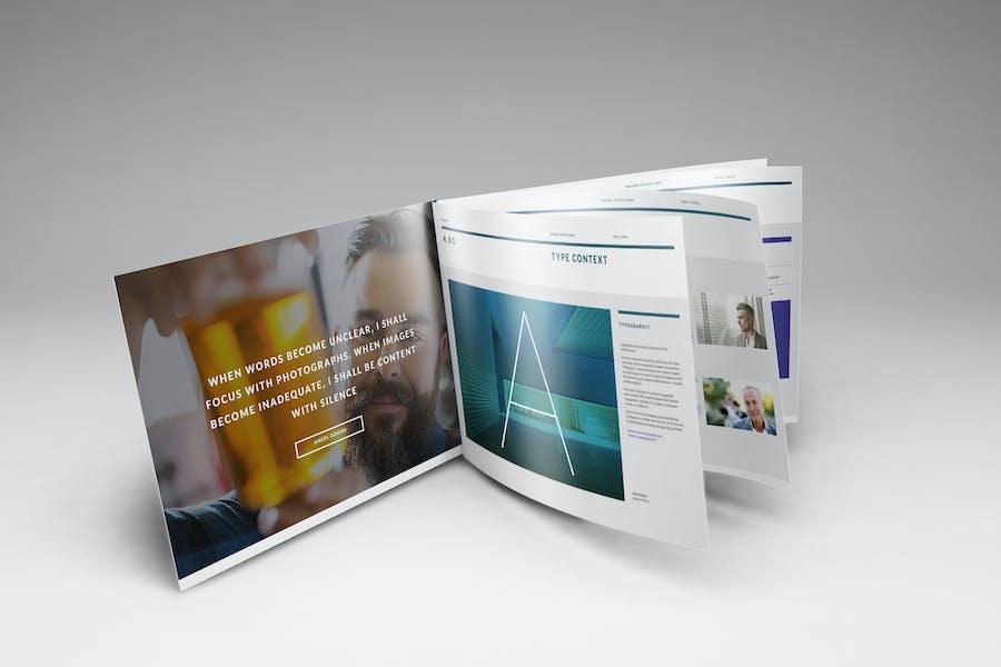 A4 Landscape Brochure Mockups