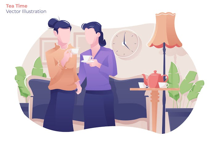 Thumbnail for Tea Time - Vector Illustration