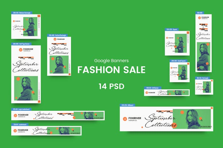 Thumbnail for Fashion Sale Banners Ad PSD Template
