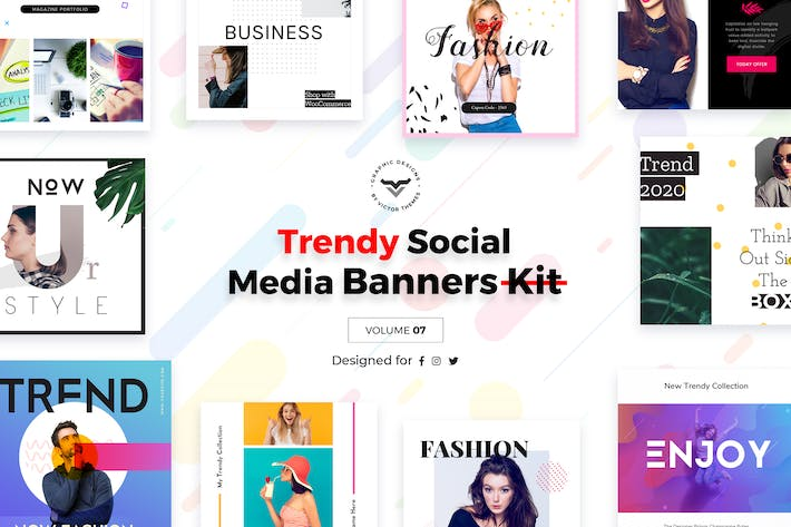 Cover Image For Trendy Social Media Banners Pack VII