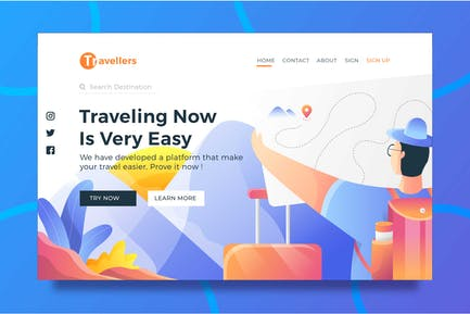 Travel Destination - Landing page