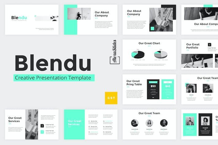 Thumbnail for Blendu - Google Slides Presentation Template