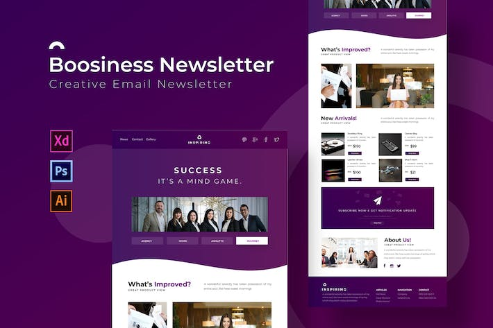 Thumbnail for Boosiness | Newsletter Template