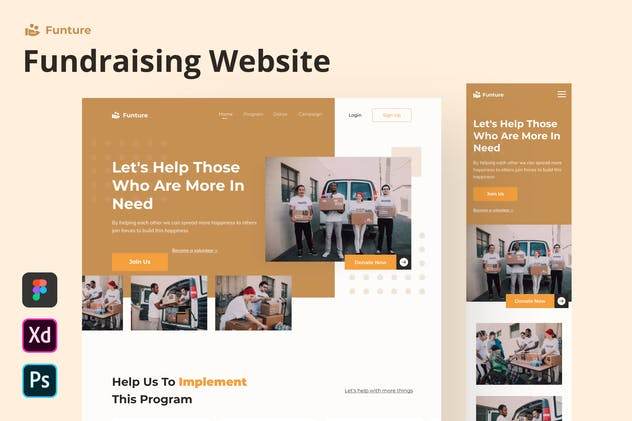 Funture - Fundraising Website Homepage