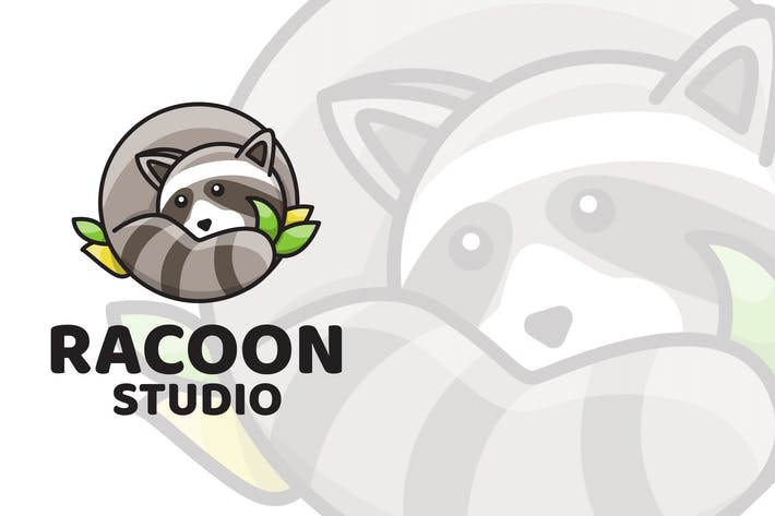 Thumbnail for Racoon Studio Cute Logo Template