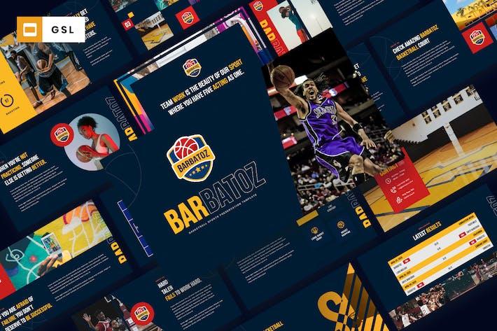 Thumbnail for Barbatoz - Баскетбол Спорт Google слайды Шаблон