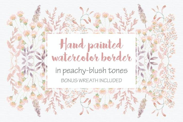Thumbnail for Blush Pom Pom Floral Border