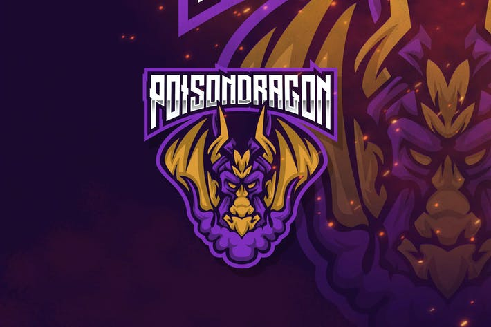 Thumbnail for Poison Dragon Esport Logo Template
