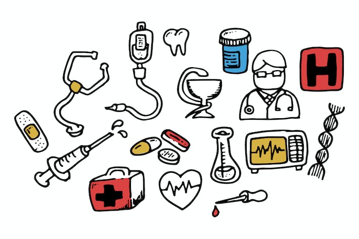 Thumbnail for Medical Doodles Collection