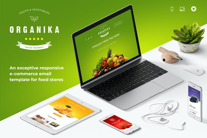 Thumbnail for Organika - Food Store E-mail HTML + PSD Template
