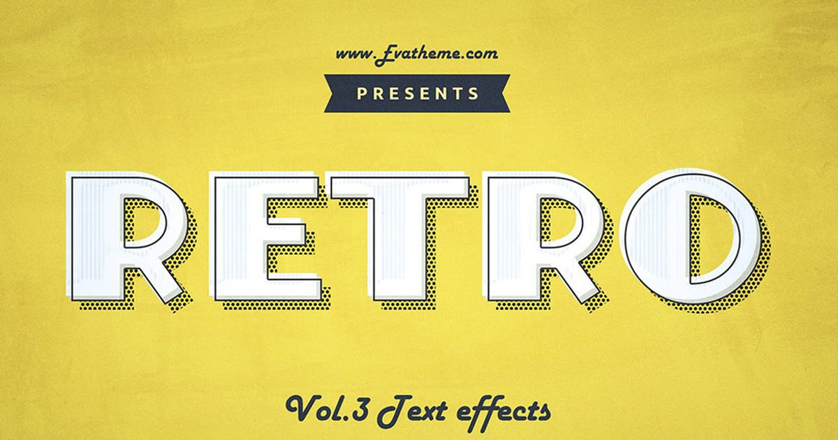 Download Retro Style Text Effects Vol.1 by annabalashova