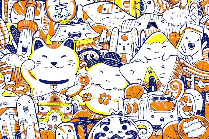 Thumbnail for Tokyo Wahrzeichen mit niedlichem Charakter