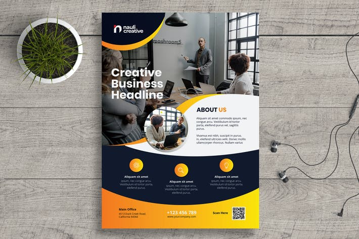 Thumbnail for Corporate Business Flyer PSD and Vector Vol.17