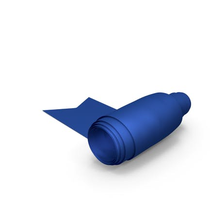 Blue Curling Silk Ribbon