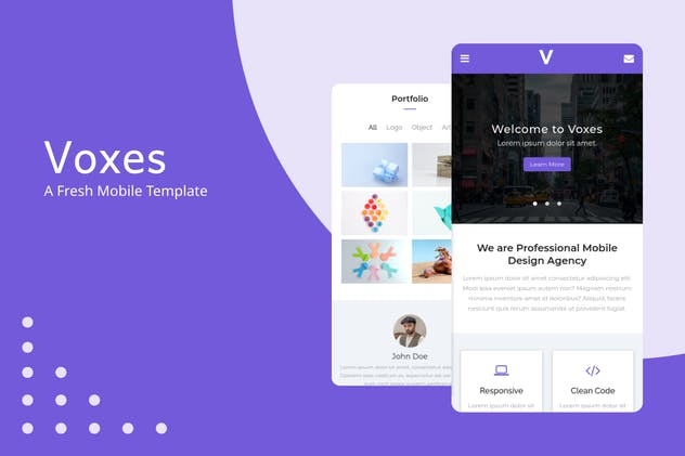 Voxes - A Fresh Mobile Template