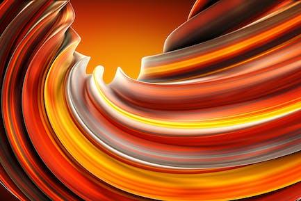 Fiery Twist Background