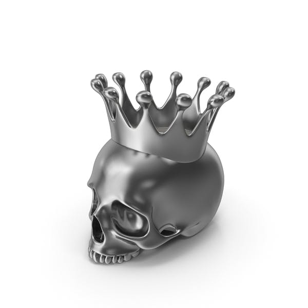 Thumbnail for Silver Skull Head Candle with Crown