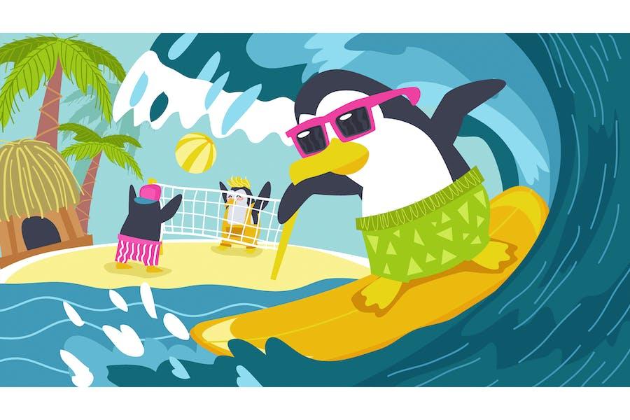 Animal Fable For Kids Penguin Illustration