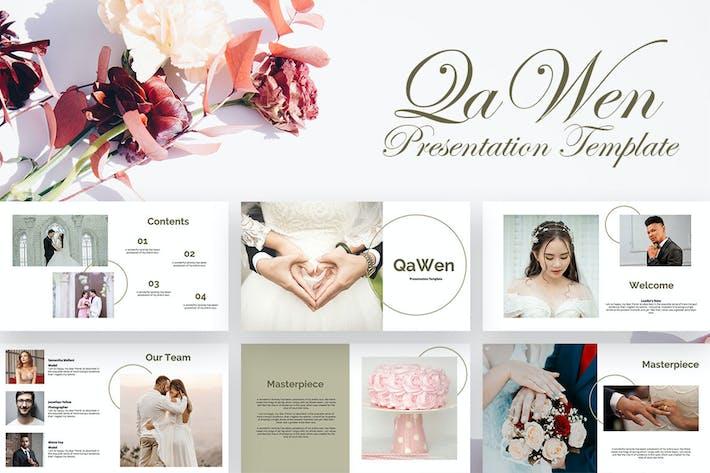 Thumbnail for Qawen - Wedding Google Slide Presentation