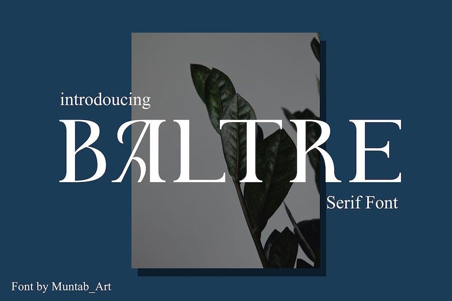 Baltre   Fuente Con serifa moderna