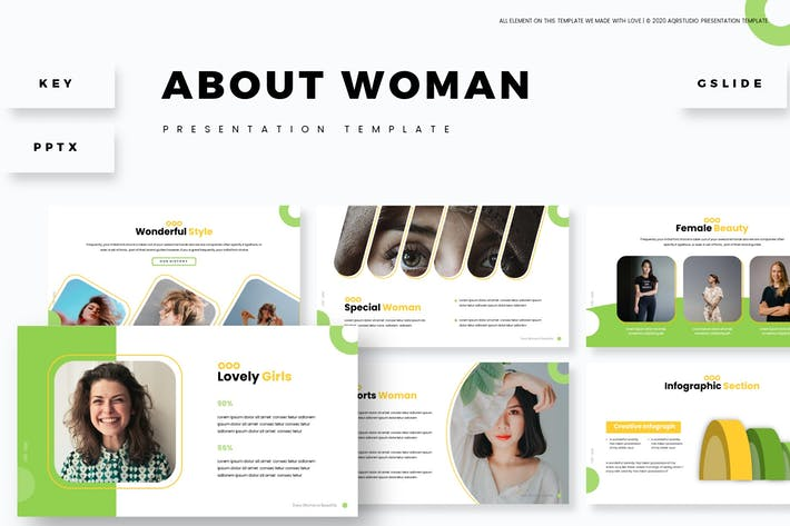About Woman - Presentation Template