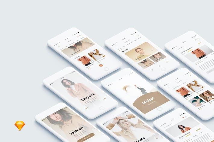 Cover Image For One Shopping - Shop Mobile App Ui Kit