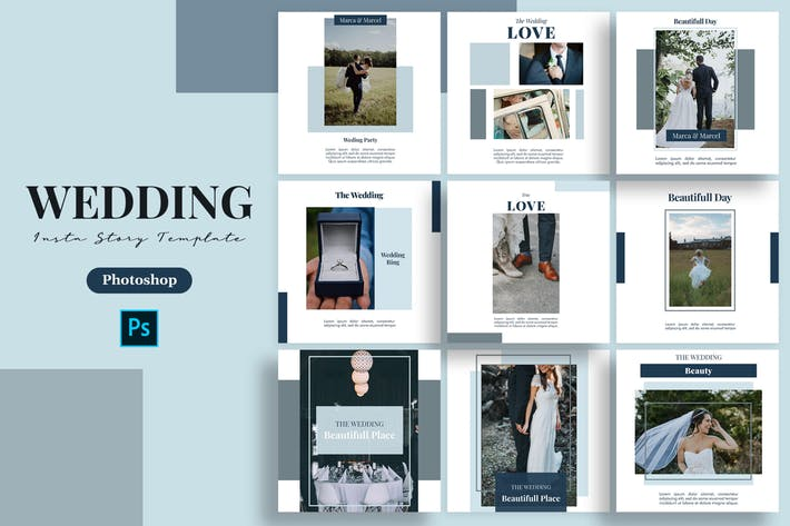 Thumbnail for Bride - Wedding Instagram Post Template