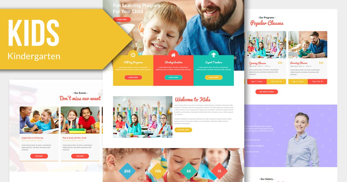 KIDS - Kindergarten and Child Muse Templates YR