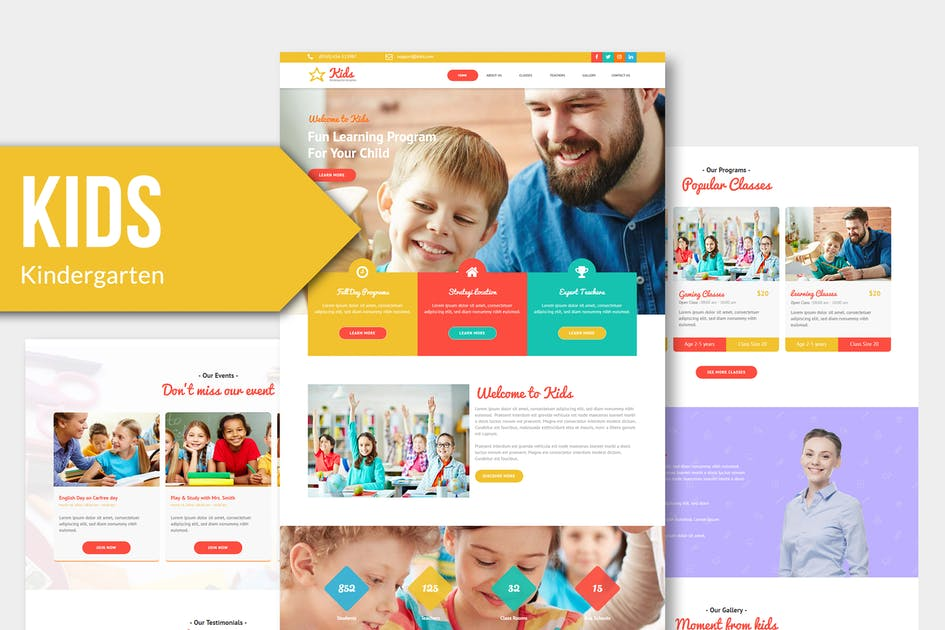 Download KIDS - Kindergarten and Child Care Muse Templates by Rometheme