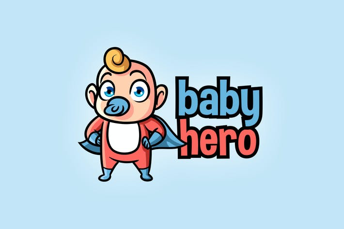 Thumbnail for Cartoon Hero Baby Logo