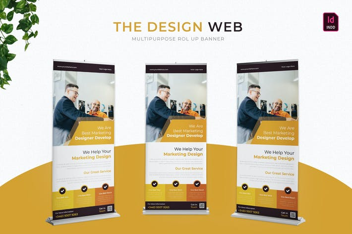 Thumbnail for Design Web | Roll Up Banner