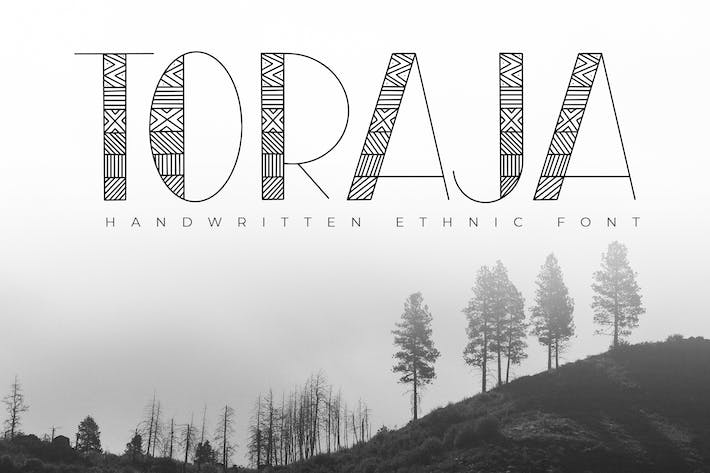 Thumbnail for Toraja - Fuente étnica manuscrita