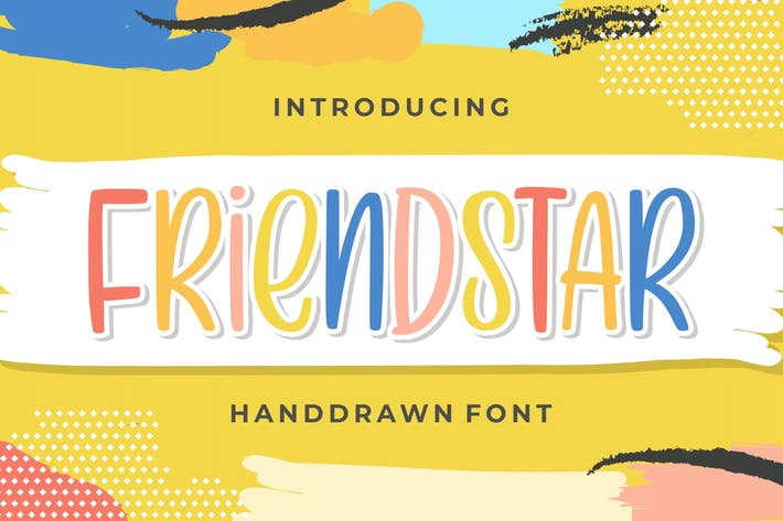 Thumbnail for Friendstar - Handdrawn Font