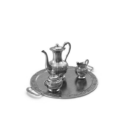 Kaffee-Set & Silbertablett