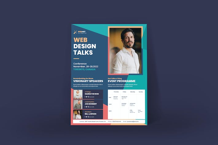 Thumbnail for Conference Poster PSD Template