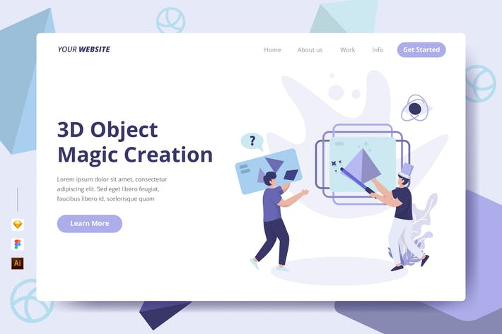 Thumbnail for 3D Object Magic Creation - Landing Page