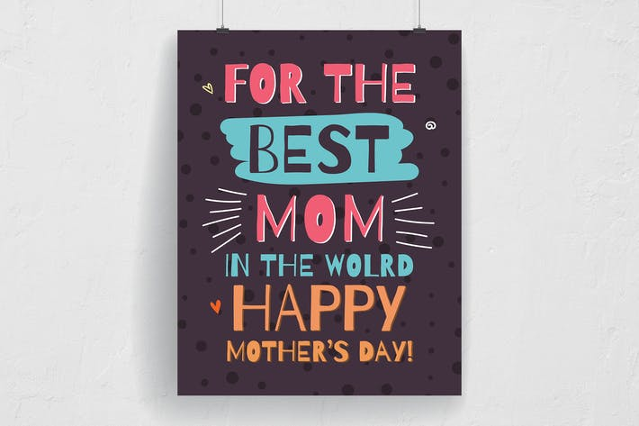Thumbnail for Happy Mother's Day Typography Flyer