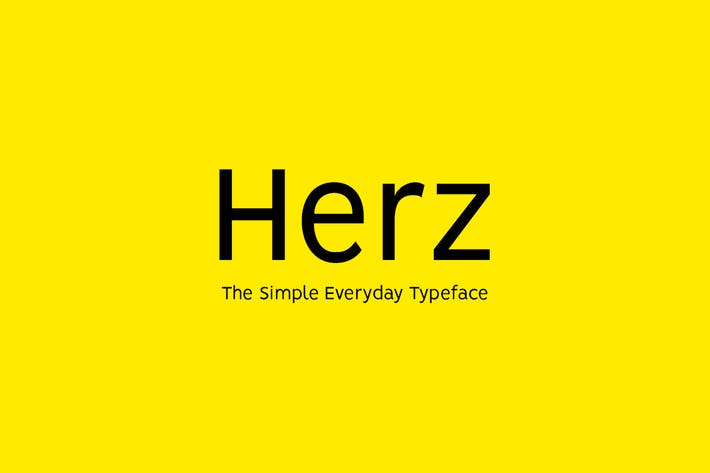 Thumbnail for HERZ - Simple Sans Serif Typeface