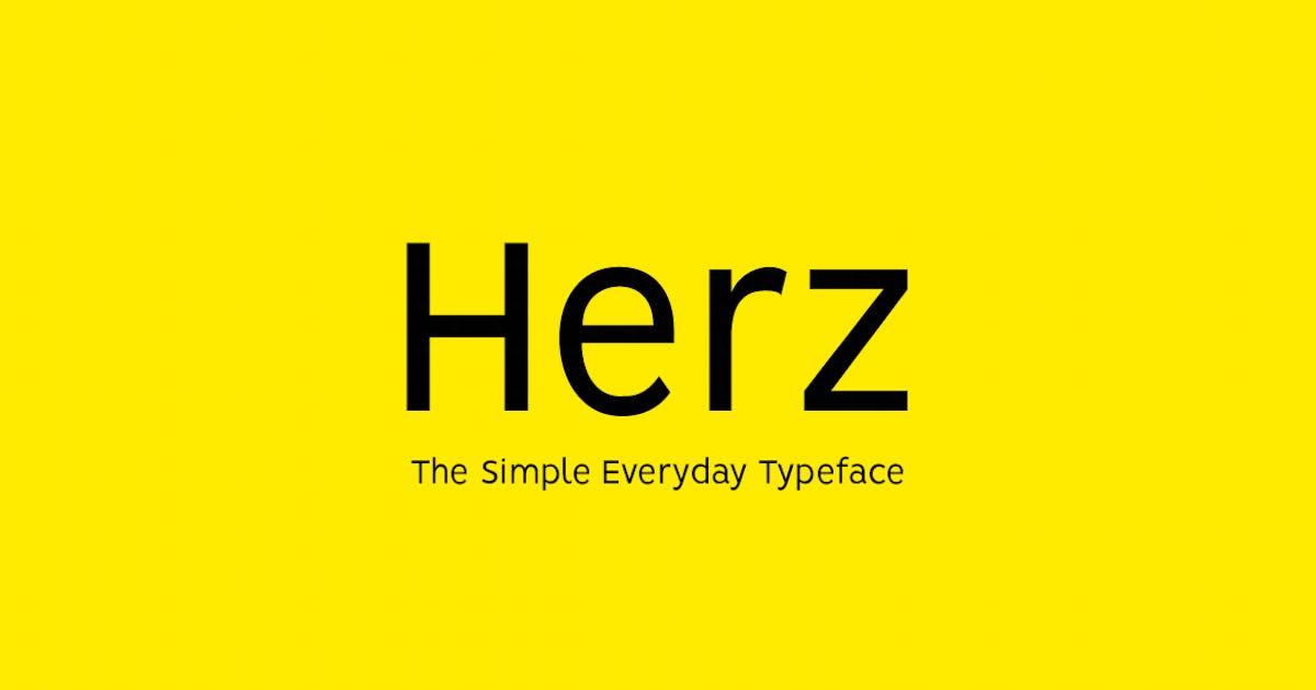 Download HERZ - Simple Sans Serif Typeface by designova